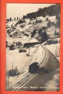VAA-17  Funiculaire Sierre - Montana Vermala Dans La Neige. Circulé 1924, G. Bise Photo-Hall Montana 15. Scan Du Dos - VS Valais