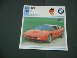 CARTOLINA CARD SCHEDA TECNICA  AUTO  CARS  BMW M1 - Altri