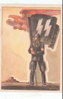 """Propaganda Karte , """" Tag Der Deutschen Polizei """" SS - Weltkrieg 1939-45"""