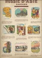 18 Chromos Turkestan & Caucasie Caucasia RUSSIA  RUSSIE 1930s 1er Choix Pub: Pupier TB 68 X 51mm 1 Feuille Recto/Verso - Chocolade