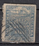 San Tomas  La Guaira  Porto Cabello   1/2 Grey Blue - Antilles