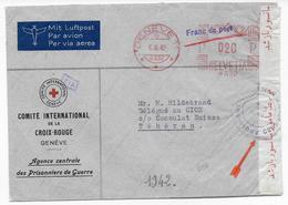 1942 - CROIX-ROUGE / RED CROSS - ENVELOPPE De GENEVE SERVICE PRISONNIERS DE GUERRE Avec CENSURE ALLIEE => TEHERAN (PERSE - Iran