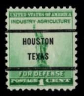 "USA Precancel Vorausentwertung Preo, Locals ""HOUSTON"" (Texas). - United States"