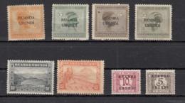 Ruanda  Urundi  8 Valeurs - 1924-44: Used