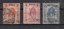Somalie Italienne  Timbre 1906 Surchargés  3 Valeurs - Somalia