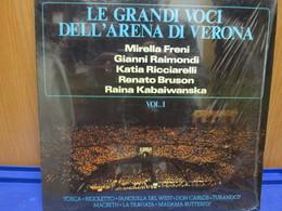 LP011 - LE GRANDI VOCI DELL'ARENA DI VERONA -VOL. 1- MIRELLA FRENI - GIANNI RAIMONDI - KATIA RICCIARELLI-RENATO BRUSON - Oper & Operette