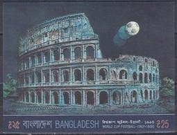Bangladesch Bangladesh 1990 Sport Fußball Football Soccer Kolosseum Colosseum Rom, Bl. 17 ** - Bangladesch