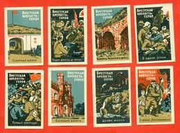 USSR 1970.War. Brest Fortress.Matchstick Label Set. - Labels