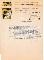 1937 - SOISSONS - BANANES En Gros - Importation Directe - R. OBERLE - Documents Historiques