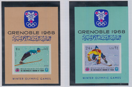 YEMEN 1968 Jeux Olympiques GRENOBLE  BF    N°   59  + 61      COTE       20 € 00 - Yémen
