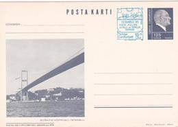 Entier Postal - Posta Karti - Istanbul 85' - Bogazici Köprüsü - Istanbul - 1921-... République