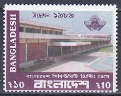 Bangladesch Bangladesh 1989 Staatswesen Staatsdruckerei Druckerei Printery Bauwerke Building, Mi. 319 ** - Bangladesch