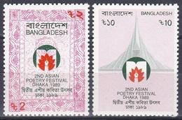 Bangladesch Bangladesh 1989 Kunst Arts Kultur Culture Literatur Literature Poetry Festival, Mi. 317-8 ** - Bangladesch