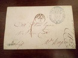 Busta Prefilatelica Macerata Con Timbro Recanati 1852 - Estados Pontificados