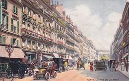 OILETTE  PARIS III Série 934P  N°22  ........... La Rue De La Paix ........ Un Mot à La Poste - Tuck, Raphael
