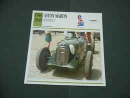 CARTOLINA CARD SCHEDA TECNICA  AUTO  CARS ASTON MARTIN SPA REPLICA - Altri