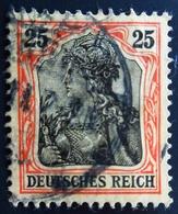 """1906 Deutsches Reich Yt 86, Mi 88I . Germania, Inscr """"DEUTSCHES REICH"""" - Used Stamps"""