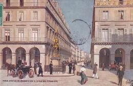 OILETTE  PARIS  Série 951  N°47  ........... La Statue De Jeanne D'Arc Et La Rue Des Pyramides ....... Un Mot à La Poste - Tuck, Raphael