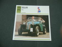 CARTOLINA CARD SCHEDA TECNICA  AUTO  CARS  DELLOW MK 2 - Altri
