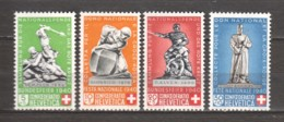 Switzerland 1940 Mi 364-367 MH CONFOEDERATION HELVETICA - Svizzera