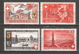 Switzerland 1941-1942 Mi 396-397-408-409 MNH CONFEDERATIO HELVETICA - Neufs