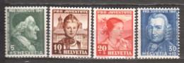 Switzerland 1941 Mi 399-402 MNH PRO JUVENTUTE - Pro Juventute