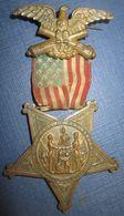 Belle Medaille Commémorative Guerre De Secession US - Before 1871