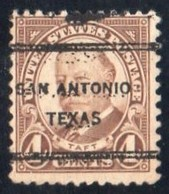 "USA Precancel Vorausentwertung Preo, Locals ""SAN ANTONIO"" (Texas). - Stati Uniti"