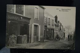 CPA Carte  Ancienne Bessé Sur Braye Rue Gambetta Boucherie Charcuterie G Janvier - Autres Communes