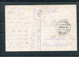 LITHUANIA 1916 WW1 GERMANY  FELDPOSTSTATION No 166 A  POSTCARD WILNA VILNIUS WILNO - Guerre Mondiale (Première)