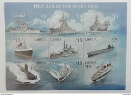 Liberia 2001** Klb..3835-43. Sailing MNH [3;21] - Schiffe