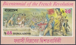 Bangladesch Bangladesh 1989 Geschichte History Französische French Revolution Gemälde Paintings, Bl. 16 ** - Bangladesch