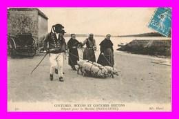 Départ Pour Le Marché Plougastel  Cmcb  ( Scan Recto Et Verso ) - Plougastel-Daoulas