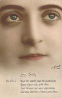 Gros Plan Sur Les Yeux Bleus Des Femmes Yeux De Saphir, Yeux De Turquoise Série Artige LA Favorite - Frauen