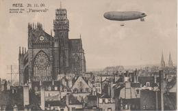 57 - METZ - ARRIVEE DU DIRIGEABLE PARSEVAL LE 20.11.1909 - Metz