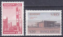 Bangladesch Bangladesh 1989 Wirtschaft Economy Industry Erdöl Petroleum Raffinierie Postwesen Bauwerke, Mi. 303-4 ** - Bangladesch