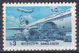 Bangladesch Bangladesh 1989 Flughafen Airport Flugzeuge Aeroplanes Douglas DC-10-30 Luftfahrt Aviation, Mi. 302 ** - Bangladesch