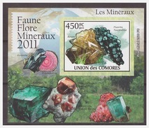 0036 Comores 2011 Minerals Baryte Beryl S/S MNH Imperf - Mineralen