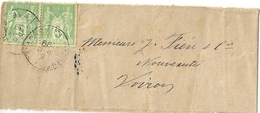 France Bande De Journal Affranchie - 1898-1900 Sage (Type III)