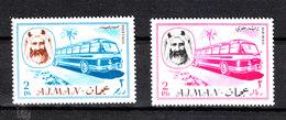 "Ajman - 1967. I Due Valori ""Bus ""  Della Serie. The Two  Values ""Bus""  Of The Serie. MNH - Bus"