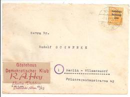 Sowjetische Besatzungs Zone Mi 191 EF Berlin 7.4.49 - Zona Sovietica