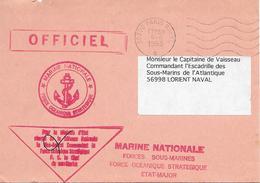 Commandement De La Force Océanique Stratégique - Postmark Collection (Covers)