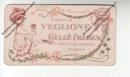 Rare Carte Parfumée ? - Parfum VEGLIONE - Gellé Frères 6 Avenue De L'Opéra PARIS (au Dos Calendrier 1907) - Cartes Parfumées