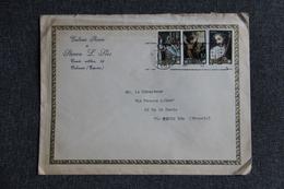 Timbres Sur Lettre De VALENCIA ( Galerie De Peinture Steven L.LLES) Vers PARIS - 1931-Hoy: 2ª República - ... Juan Carlos I