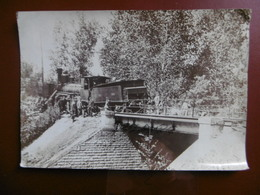 DÉRAILLEMENT TRAIN AU PONT DE LA DIVE LOCOMOTIVE ETAT 3070 Lire Verso 1899 - Old (before 1900)