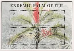 Fiji  2000 ENDEMIC PALM OF FIJI S/S - Fiji (1970-...)