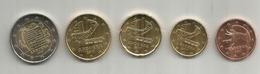 Monnaies € EUR ANDORRA 2017:  5C. 10C. 20C. 50C. 2,00 € - Andorra