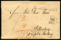 HANNOVER 1831, VORPHILABRIEF MIT L1 DUDERSTADT UND DATUMSSTPL, NACH DILLENBURG - Allemagne