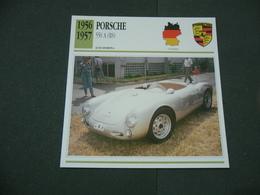 CARTOLINA CARD SCHEDA TECNICA  AUTO  CARS  Porsche 550 A Rs - Altri