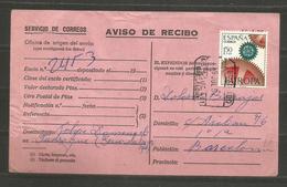 SPAIN - ESPANA - AVISO DE RECIBO   - D 3183 - Espagne